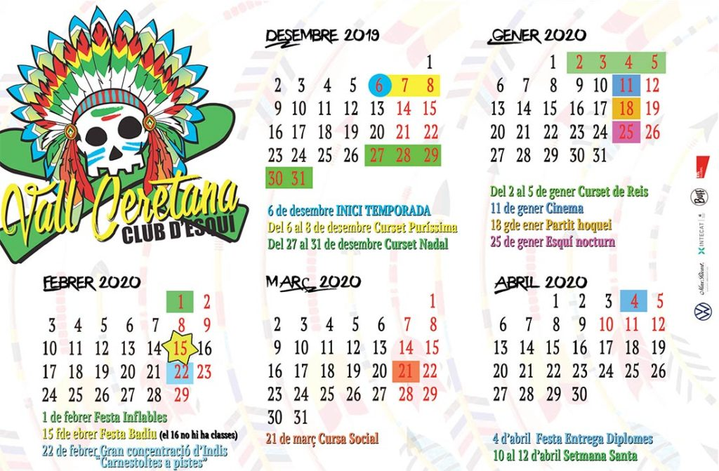Calendari temporada 19/20